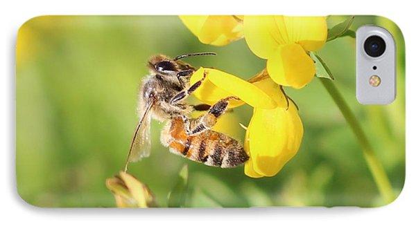 honeybee on Birdsfool Trefoil IPhone Case