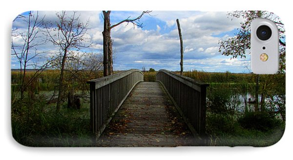 Horicon Bridge In Autumn IPhone Case