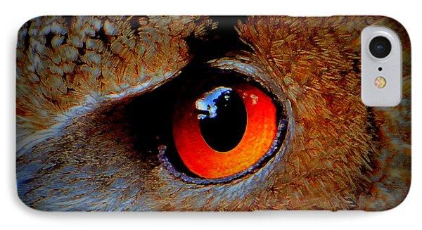 Horned Owl Eye IPhone Case