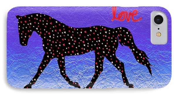 Horse Hearts And Love IPhone Case