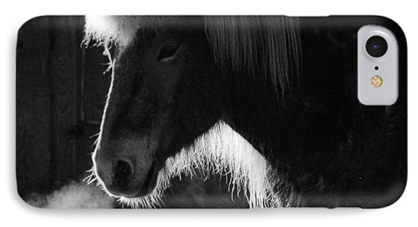 Horse In Black And White Square Format IPhone Case
