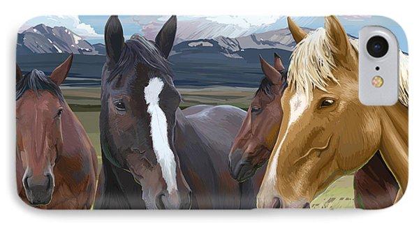 Horse Talk IPhone Case
