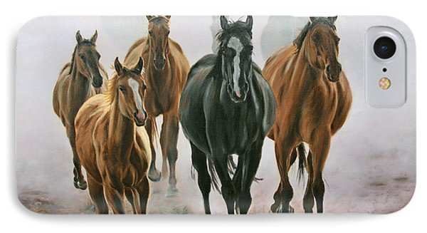 Horses And Dust IPhone Case