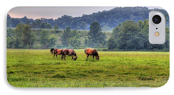 Horses In A Field 2 IPhone Case