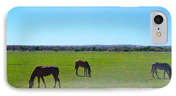 Horses In New Mexico IPhone Case