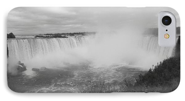 Horseshoe Falls - Autumn - B N W IPhone Case