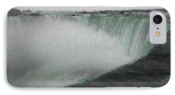 Horseshoe Falls In Winter IPhone Case
