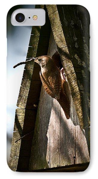 House Wren At Nest Box IPhone Case