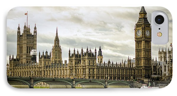 Houses Of Parliament On The Thames IPhone Case