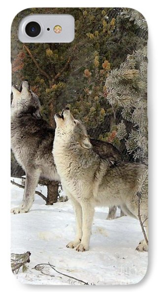 717a Howling Wolves  IPhone Case