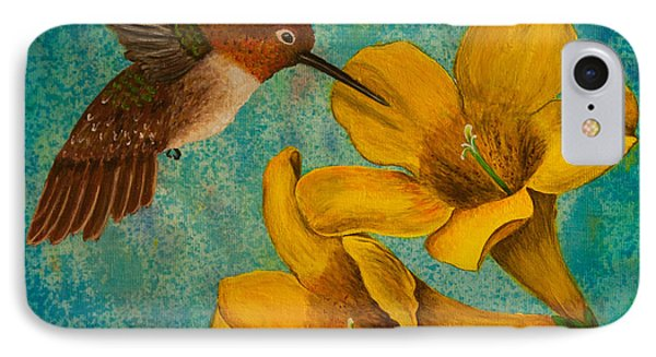 Hummingbird With Yellow Jasmine IPhone Case
