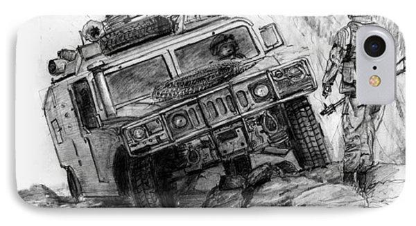 Humvee-afghanistan IPhone Case