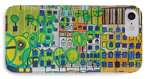 Hundertwasser The Three Skins In 3d By J.j.b. IPhone Case