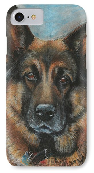 Hussler-german Shepherd Dog IPhone Case