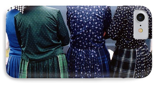 Hutterite Women At The Market IPhone Case