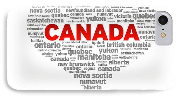I Love Canada IPhone Case
