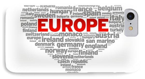 I Love Europe IPhone Case