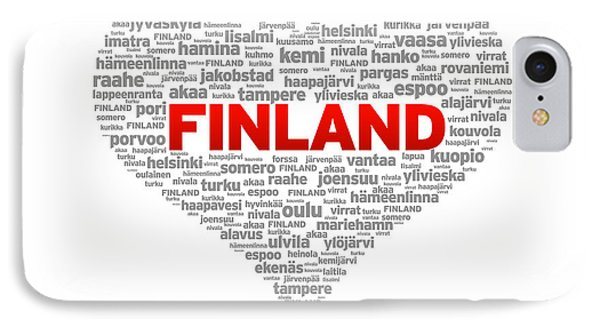 I Love Finland IPhone Case