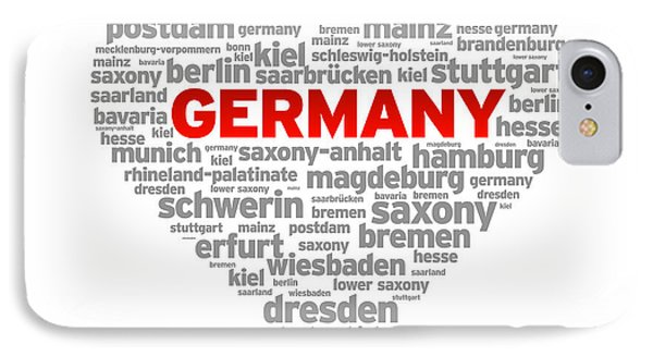 I Love Germany IPhone Case