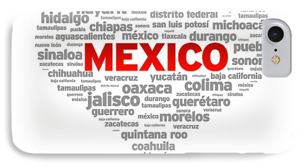 I Love Mexico IPhone Case