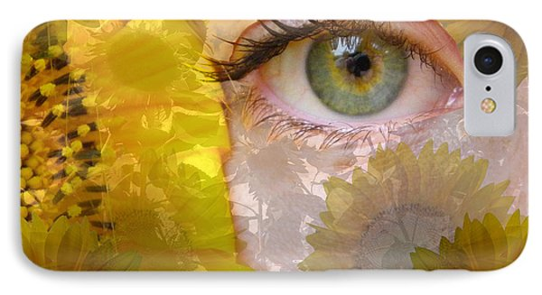 I See Sunflowers IPhone Case