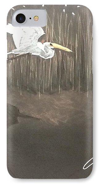 Ibis Over The Marsh IPhone Case
