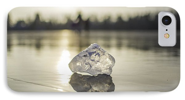 Ice Puck On Little Rock Lake IPhone Case