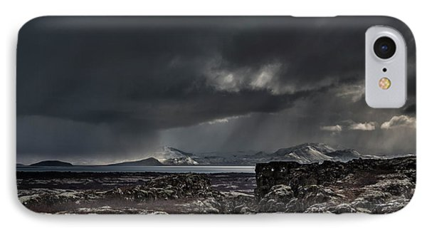 Iceland, Fagrabrekka, Thingvellir IPhone Case