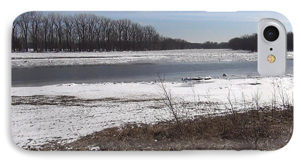 Icy Wabash River IPhone Case