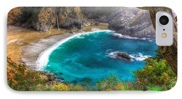 Idyllic Cove-1a. Mc Way Falls Julia Pfeiffer State Park - Big Sur Central California Coast Spring IPhone Case