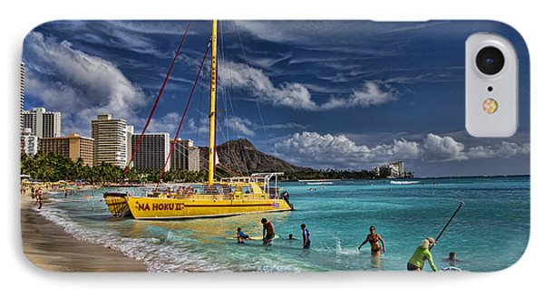 Idyllic Waikiki Beach IPhone Case