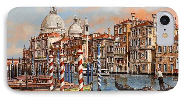 Boat iPhone 8 Case - Il Canal Grande by Guido Borelli