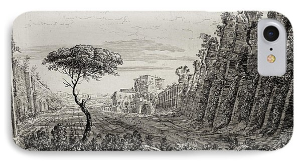 Image Of Italian Countryside Around Rome. IPhone Case