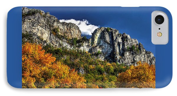 Imposing Seneca Rocks - Seneca Rocks National Recreation Area Wv Autumn Mid-afternoon IPhone Case