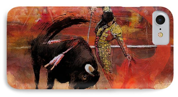 Impressionistic Bullfighting IPhone Case