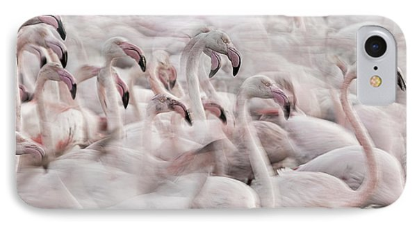 French iPhone 8 Case - In The Pink Transhumance by Martine Benezech