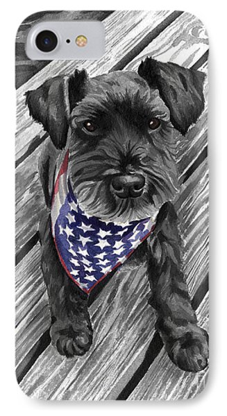 Independence Day Dog IPhone Case