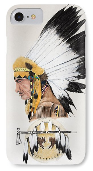 Indian Chief Contemplating IPhone Case