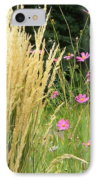 Indian Grass And Wild Flowers IPhone Case