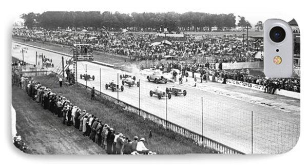 Indy 500 Auto Race IPhone Case