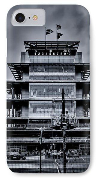 Indy 500 Pagoda - Black And White IPhone Case