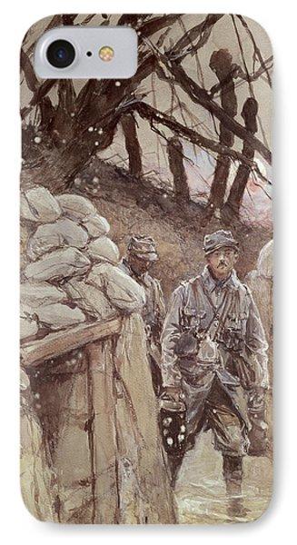 Infantrymen In A Trench, Notre-dame De Lorette, 1915 Wc On Paper IPhone Case