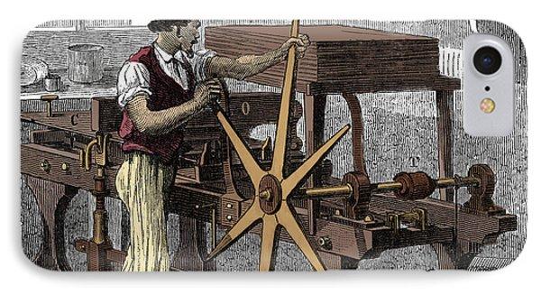 Intaglio, Copperplate Printing Press IPhone Case