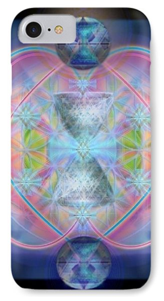 Intwined Hearts Chalice Gold Orb In Bright Synthesis IPhone Case