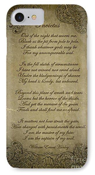 Invictus By William Ernest Henley IPhone Case