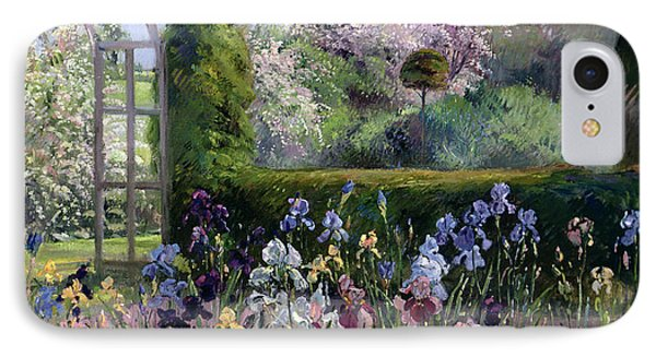 Irises In The Formal Gardens, 1993 IPhone Case