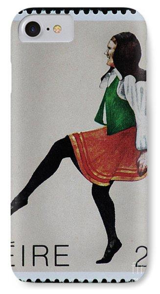 Irish Music And Dance Postage Stamp Print IPhone Case