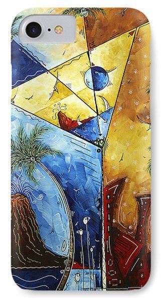 Island Martini  Original Madart Painting IPhone Case