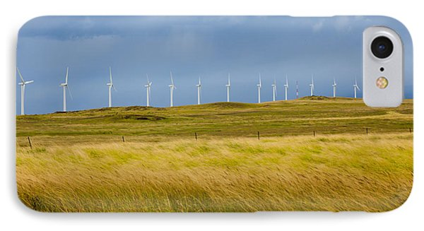 Island Turbines And Grass IPhone Case