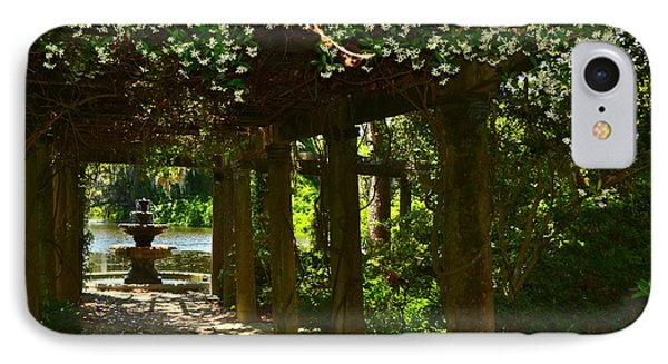 Italian Garden Pergola And Fountain IPhone Case